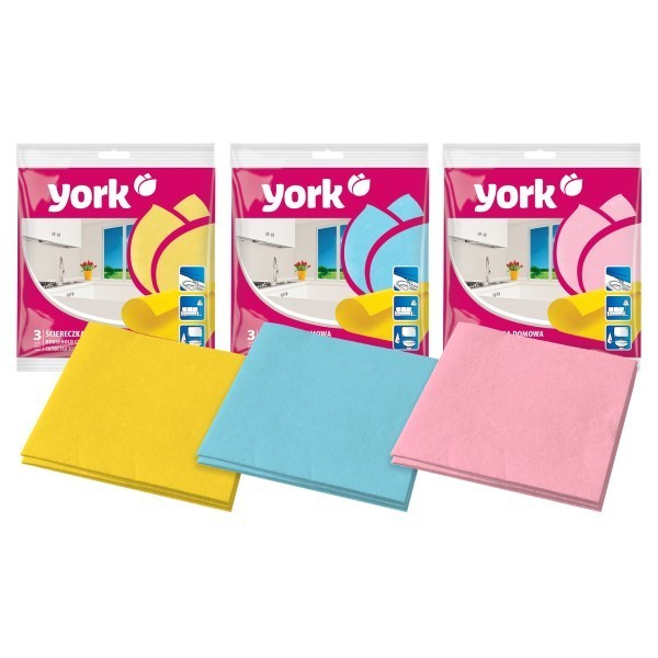 Серветка для прибирання YORK 3 шт 35*35 см 020010 - изображение 1