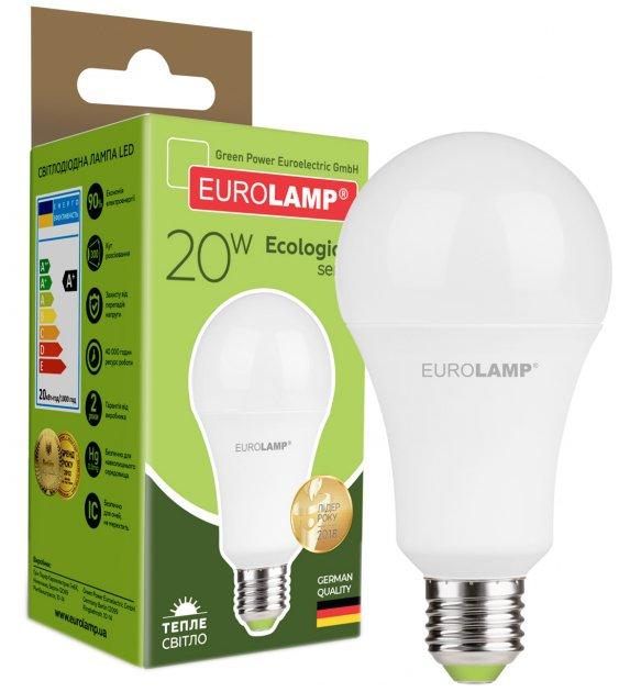 Світлодіодна лампа EUROLAMP А75 20W E27 3000K (LED-A75-20272(P)) - зображення 1