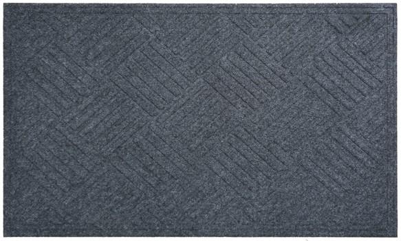 Коврик придверный на резиновой основе YPR К-504 серый 80х120см - изображение 1