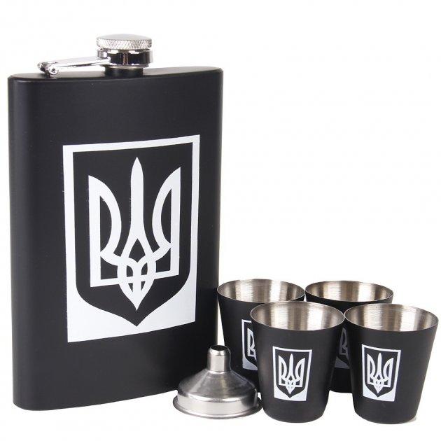 Набор Hip Flask Фляга 9oz+стаканчики+лейка Черный 610041 - изображение 1