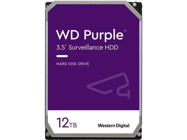 """Дисковий накопичувач внутрішній Western Digital WD 3.5"""" Purple 12TB 3,5"""" SATAIII 7200 об/хв Сріблястий (WD121PURZ) - зображення 1"""