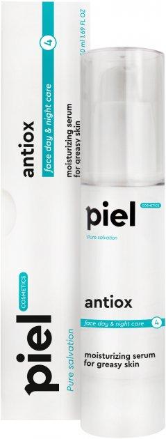 Антиоксидантная увлажняющая сыворотка с экстрактом плаценты и витаминами С + Е Piel Gialur Youth Defence Antiox 50 мл (4820187880181) - изображение 1