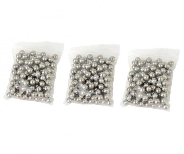 Металлические шарики для рогатки DEXT 8 мм сталь 3 упаковки - изображение 1