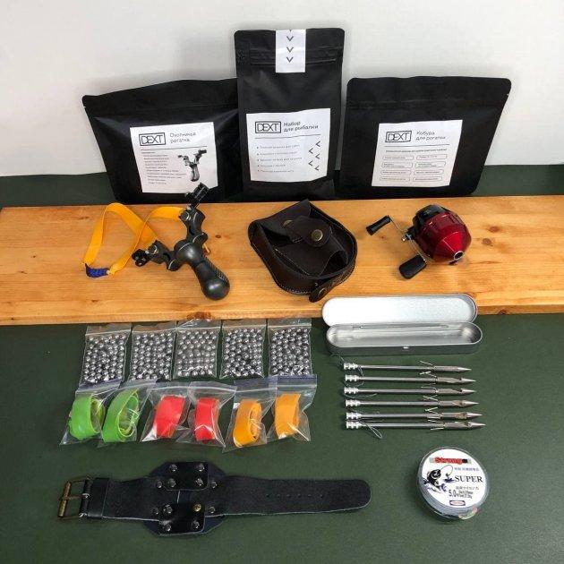 Рогатка для рыбалки с дротиками стрелами и катушкой DEXT Максимальный набор Рогатка для Боуфишинга Bowfishing - изображение 1