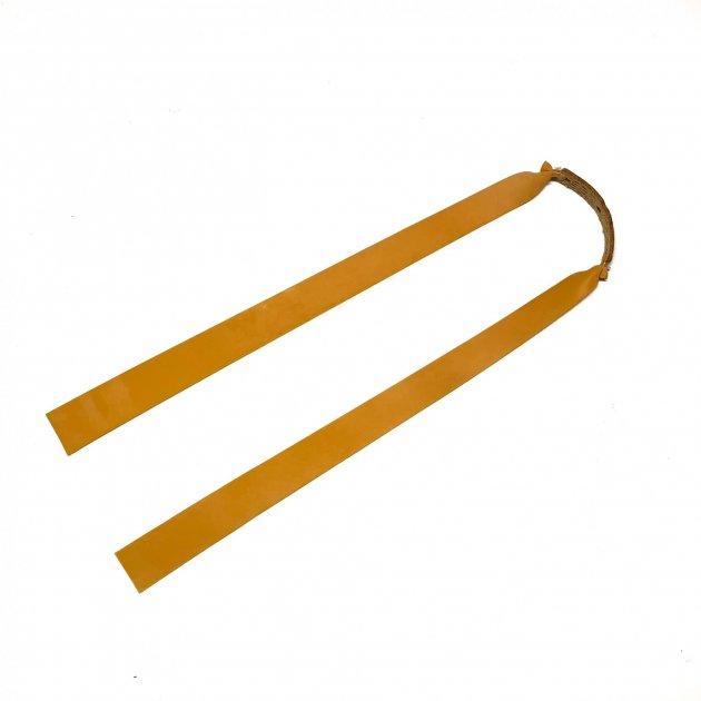 Плоска гумка для рогатки Dext натуральний латекс жовта - зображення 1