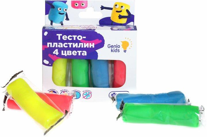Набор для детской лепки Genio Kids Тесто-пластилин 4 цвета (TA1082) (4814723005800) - изображение 1