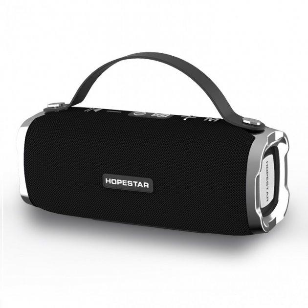 Портативна бездротова Bluetooth стерео колонка Hopestar H40 Чорна (H40 Black) - зображення 1