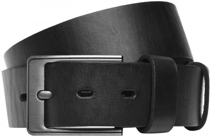 Мужской кожаный ремень Laras VN-RMAS4-125x79 Черный (ROZ6206113795) - изображение 1