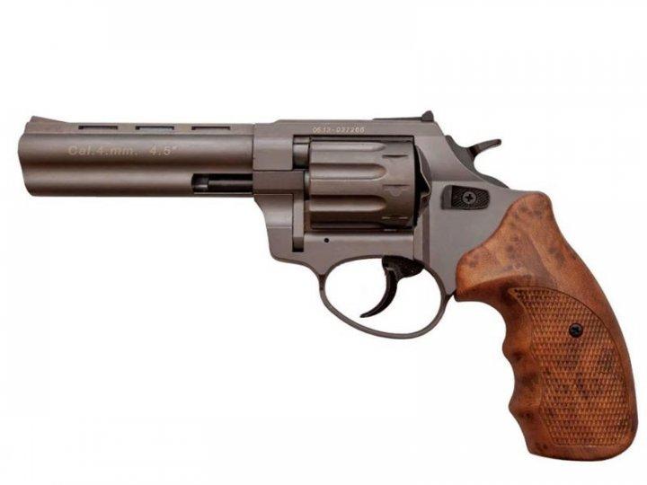 """Револьвер під патрон Флобера STALKER Titanium 4.5"""" коричн. рук. - зображення 1"""