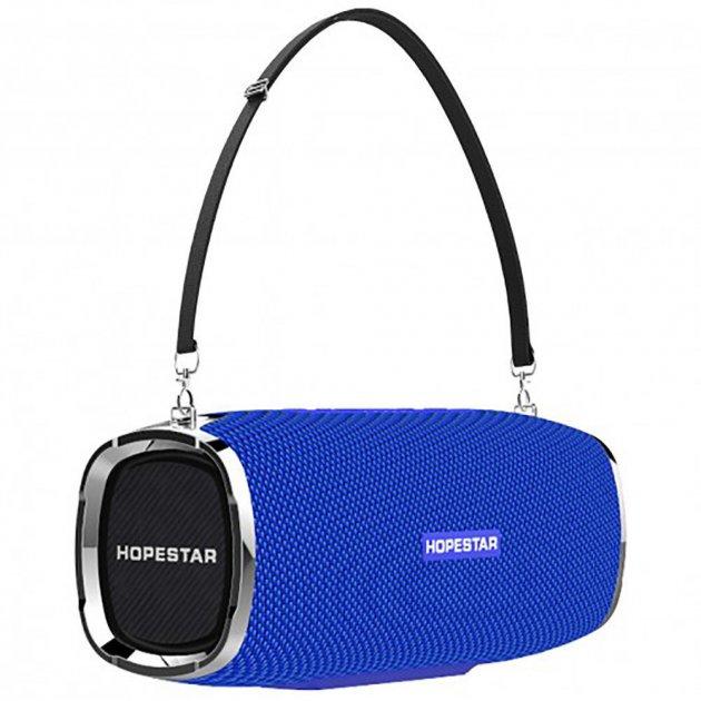Мощная портативная bluetooth колонка Sound System A6 Pro Hopestar Оригинал Синяя - изображение 1
