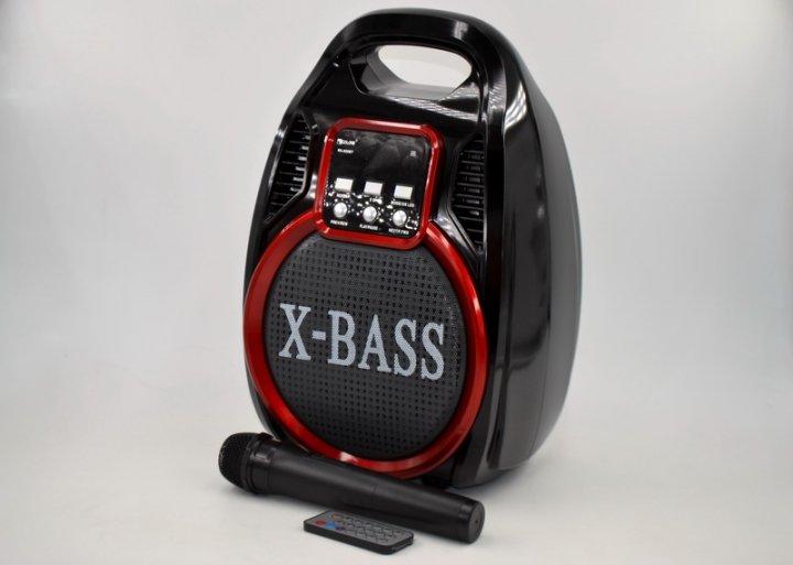 Акустическая колонка Golon RX-820 с функцией Bluetooth и усилитель с микрофоном и пультом ДУ Чёрная (A27SM17) - зображення 1