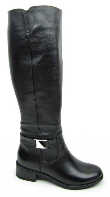 Сапоги женские зимние Rozal 931/86 черные 35 размер натуральная кожа подкладка шерсть (овчина) - изображение 1