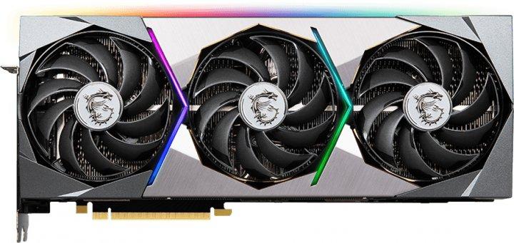 MSI PCI-Ex GeForce RTX 3080 Ti Suprim X 12G 12GB GDDR6X (384bit) (1830/19000) (HDMI, 3 x DisplayPort) (RTX 3080 Ti Suprim X 12G) - зображення 1