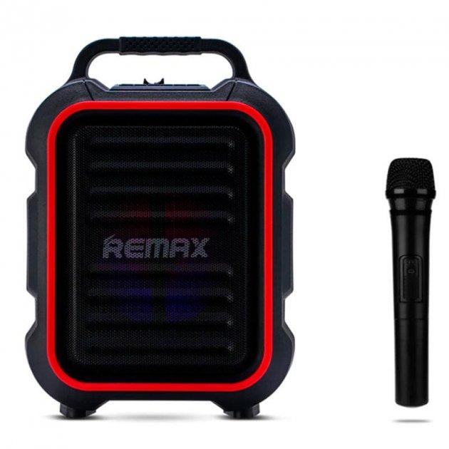 Портативная беспроводная Bluetooth акустическая система REMAX Song K Outdoor Portablae RB-X3 колонка чемодан караоке с микрофоном Black (RB-X5) - зображення 1