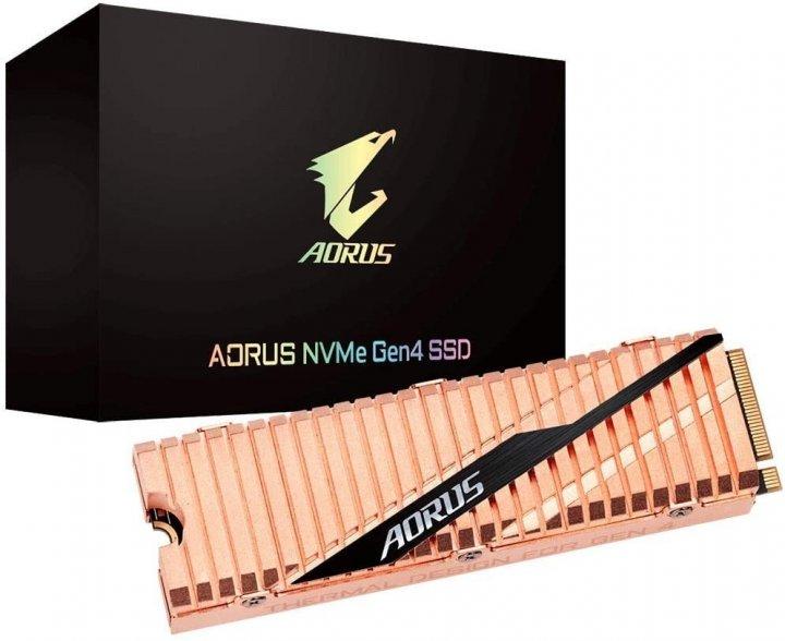 Gigabyte Aorus NVMe Gen4 SSD 2TB M.2 2280 NVMe PCIe 4.0 x4 3D NAND TLC (GP-ASM2NE6200TTTD) - зображення 1