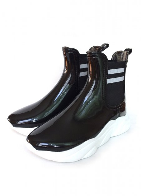 Женские резиновые ботинки РЕАЛПАКС F-200 40 26 см Черный - изображение 1