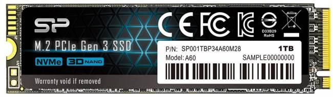 Silicon Power P34A60 1TB NVMe M.2 2280 PCIe 3.0 x4 3D NAND TLC (SP001TBP34A60M28) - зображення 1