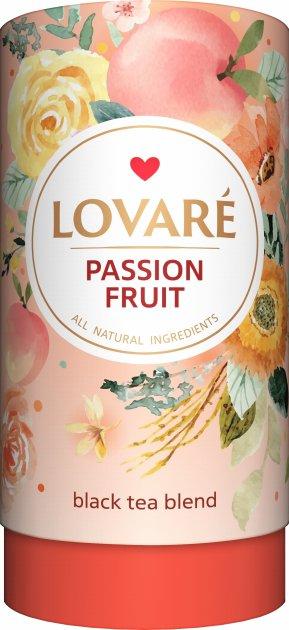 Чай черный с фруктами и цветами Lovare Страстный фрукт 80 г (4820097818069) - изображение 1