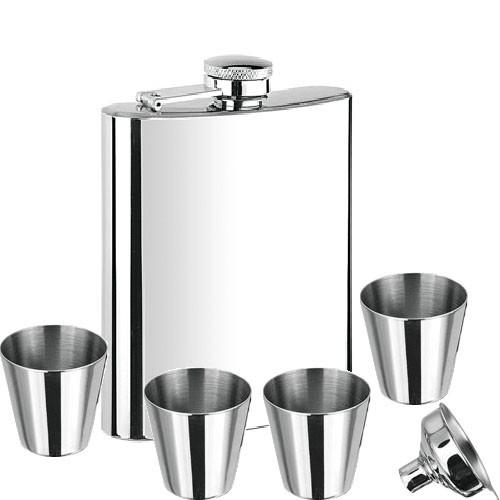 Набор Hip Flask Фляга 7oz+стаканчики+лейка Серый 61015 - изображение 1