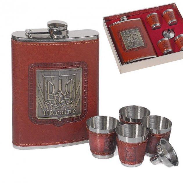 Набор Hip Flask Фляга 9oz+стаканчики+лейка Коричневый 61036 - изображение 1