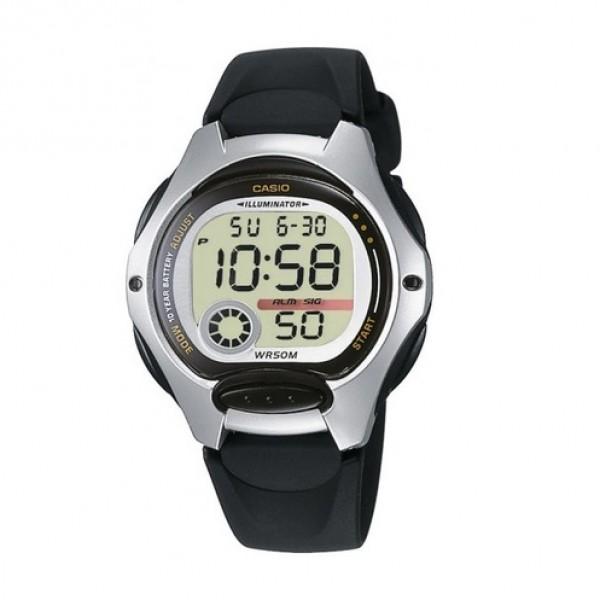 Женские электронные часы Casio Black наручные спортивные на полимеровом ремешке + коробка (1006-1827) - зображення 1