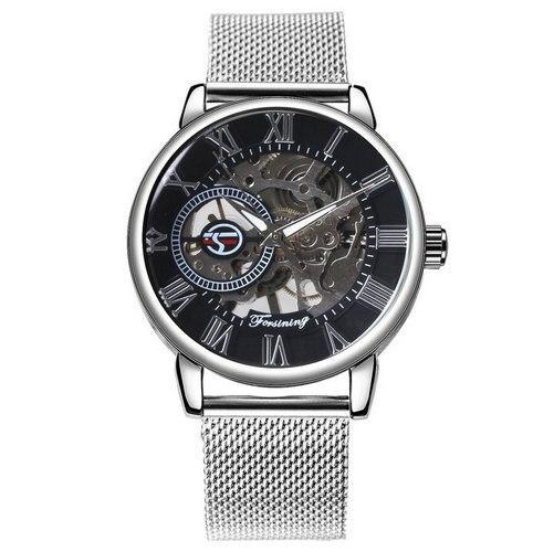 Часы наручные Forsining 1040 Silver-Black - изображение 1