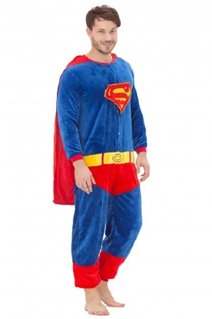 Мужская пижама кигуруми Супермен размер M красно-синий (1195) - изображение 1