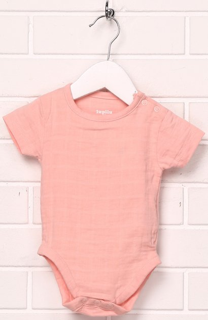 Боді-футболка Lupilu ld03200047 56 см Світло-рожеве (SHEK2000000239293) - зображення 1