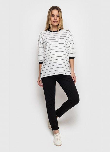 Світшот для вагітних KOKO boutique рукав 3/4 S/M білий в чорну полоску - зображення 1