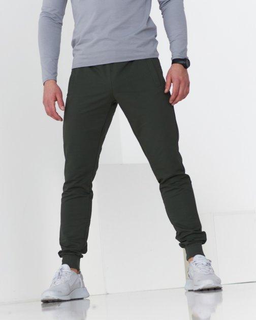 Спортивні штани тонкі GR8 active wear модель 61-хакі розмір XL - зображення 1