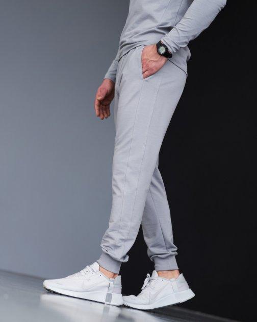 Спортивные штаны тонкие GR8 active wear модель 7т2-св-серый размер S - изображение 1