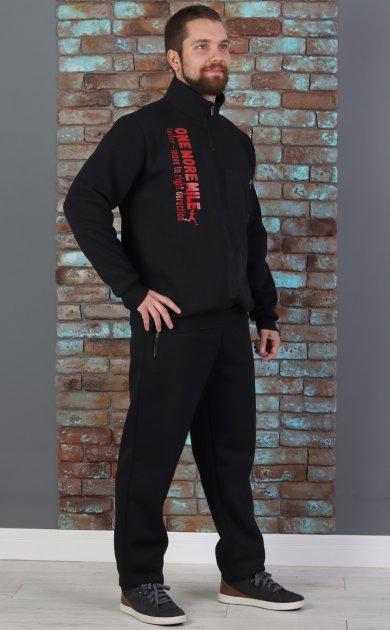 Спортивный костюм теплый батник со стойкой 50 Черный (507) - изображение 1