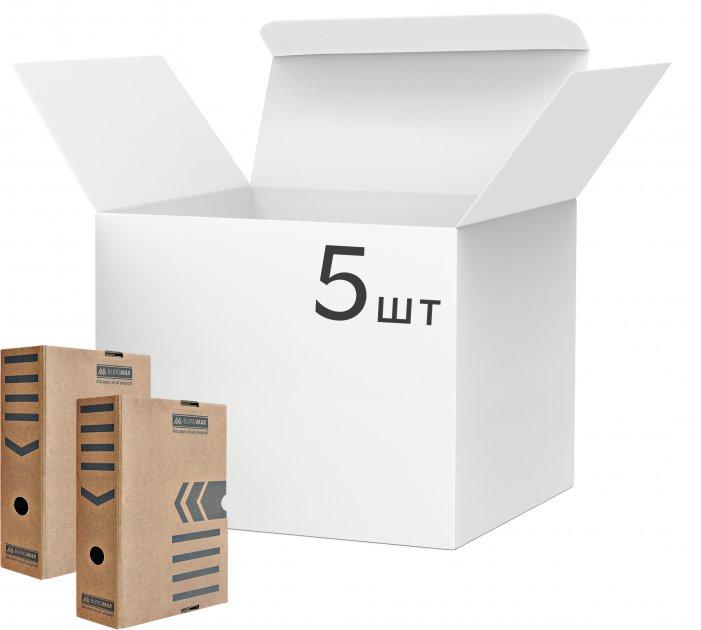 Набор архивных боксов Buromax для документов 100 мм Коричневых 5 шт (BM.3261-34)