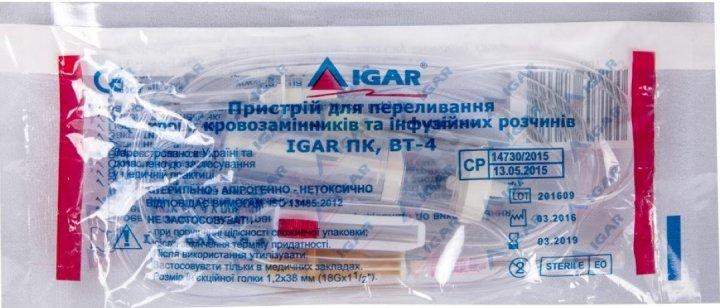 Устройство для переливания крови, кровезаменителей и инфузионных растворов ПК Igar ВТ-4 (4820017607100) - изображение 1