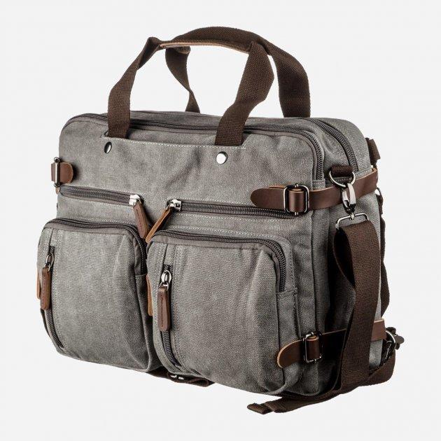Мужская сумка Vintage leather-20151 Серая - изображение 1