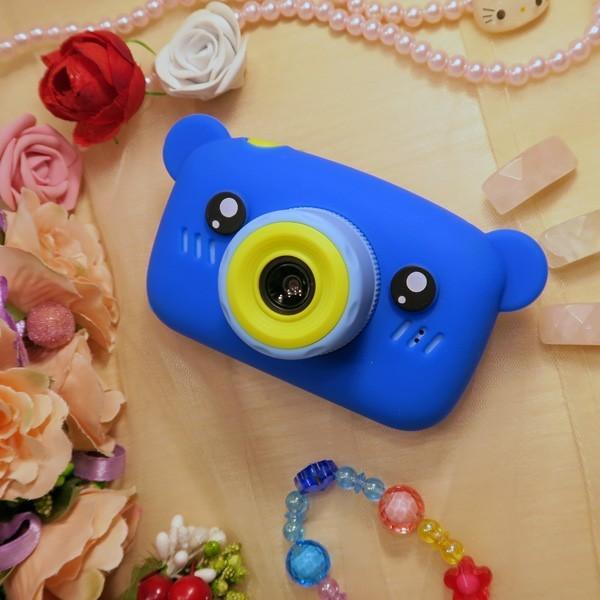 40М Детский цифровой фотоаппарат Children`s fun Синий Мишка 20Мп Full HD 1080p с картой 16 GB (T003_BBM-16) - изображение 4