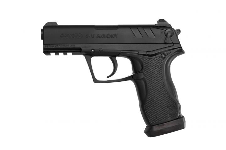 6111390-P Пистолет пневматический Gamo C-15 Blowback BB'S - зображення 1