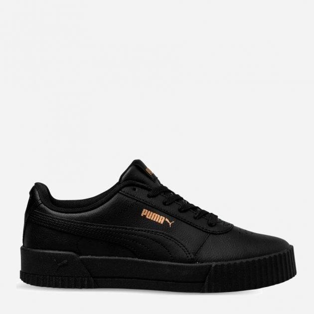 Кеды Puma Carina Leather W 37032508 37 (4) 23 см Black-Black-Team Gold (4060979935440) - изображение 1