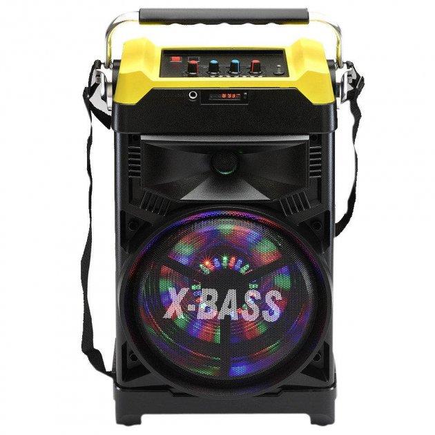 Акустическая система NNS чемодан комбик Bluetooth колонка усилитель с микрофоном Original Жёлтая (1388) - изображение 1