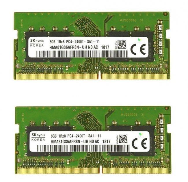 Оперативная память Hynix SODIMM 16Gb (2*8Gb) DDR4-2400MHz PC4-19200 CL17 (HMA81GS6AFR8N-TF) Refurbished - изображение 1