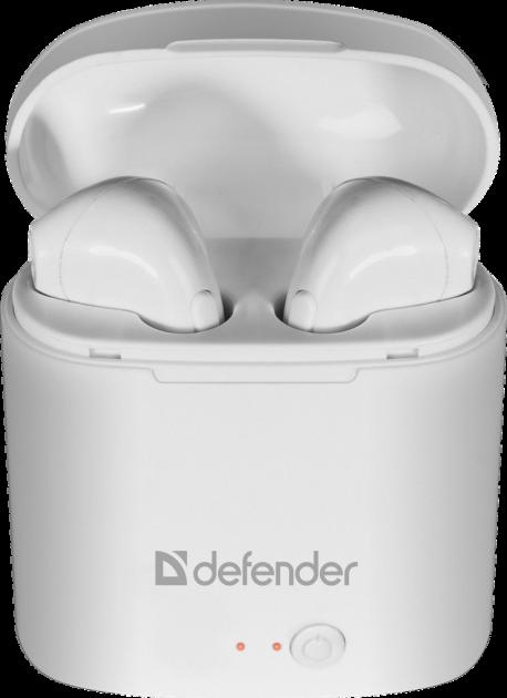 Наушники Defender Twins 630 White (63630) - изображение 1