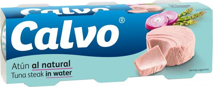 Тунец Calvo в собственном соку 80 г х 3 шт (8410090610638) - изображение 1