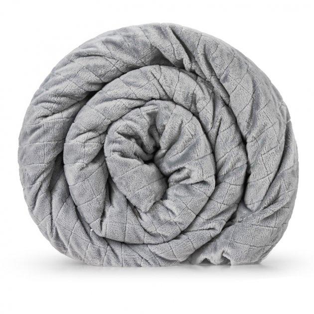 Утяжеленное (тяжелое) сенсорное одеяло GRAVITY 135x200см 6кг Серое - изображение 1