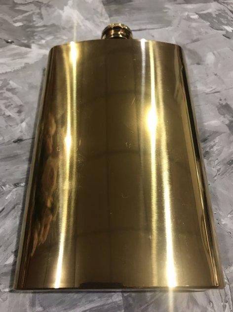 Фляга На 300 Мл Под Гравировку Золото - изображение 1
