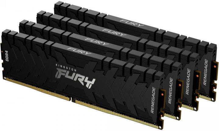 Оперативная память Kingston Fury DDR4-2666 131072MB PC4-21300 (Kit of 4x32768) Renegade Black (KF426C15RBK4/128) - изображение 1
