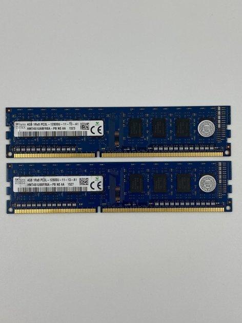 Оперативна пам'ять Hynix DDR3 DIMM 8Gb (2*4Gb) 4Gb DDR3 1600MHz PC3L-12800 CL11 (HMT451U6BFR8A-PB) Б/У - зображення 1