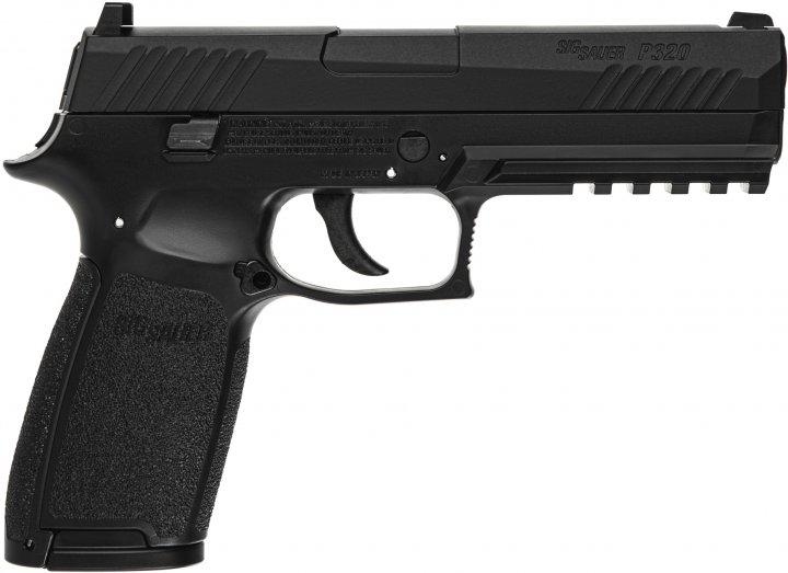Пистолет пневматический Sig Sauer P320 Blowback калибр 4.5 мм (AIR-P320-177-30R-BLK) - изображение 1