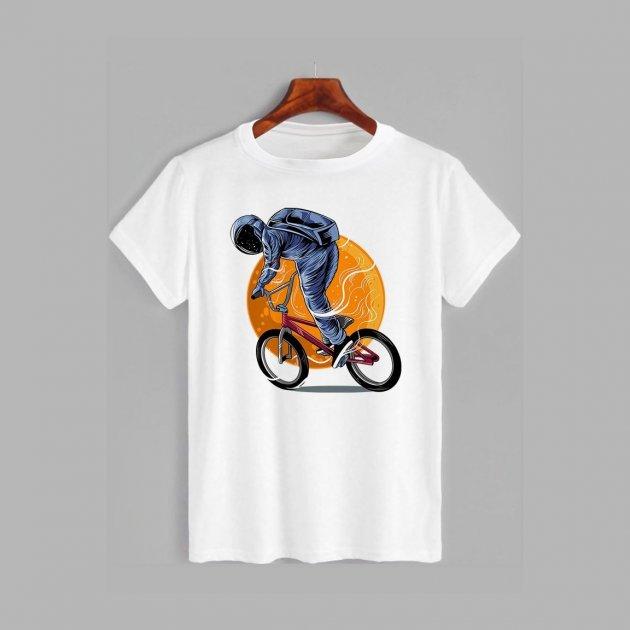 Футболка Likey Космонавт на BMX M150-1122 3XL Белая (2000001211878) - изображение 1
