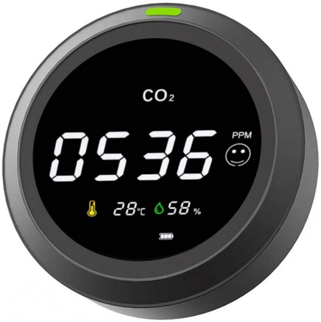 Термогигрометр с датчиком CO2 RZTK PTH-5