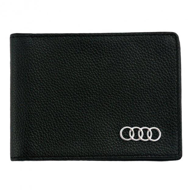 Кожаный бумажник двойного сложения с эмблемой AUDI - изображение 1